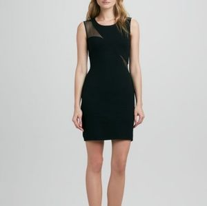 Bailey 44 Black Body Con Dress with Sheer Panels